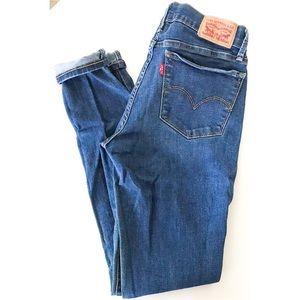 EUC Levi's 710 Dark Wash Denim Super Skinny Jeans